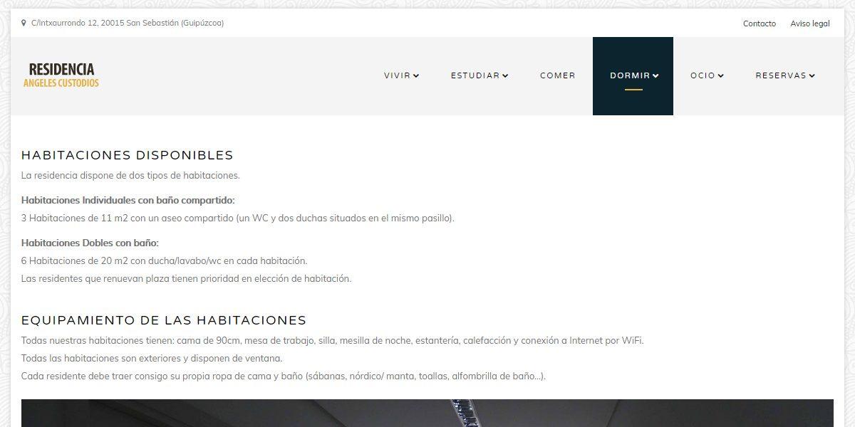 Microsite de PHP desarrollado para restaurante de San Sebastián
