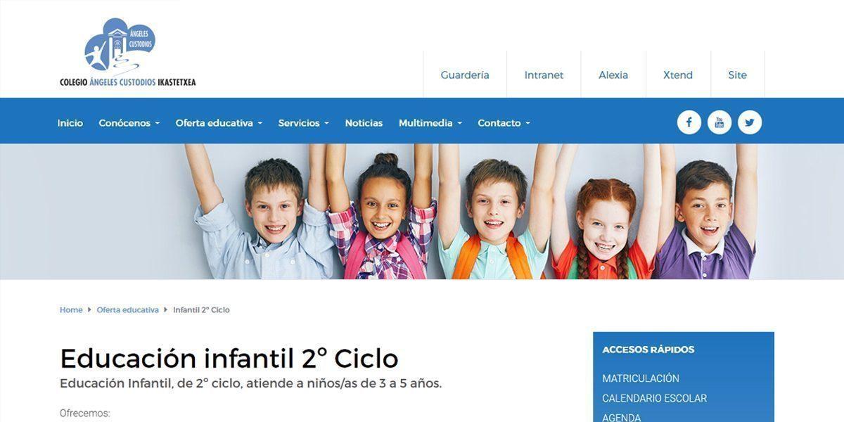 Desarrollo de portal en WordPress para colegio de Zabalbide